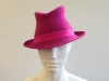 Couture by Beth Hirst Felt Trilby in Pink