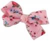 Daisy Daisy Floral Double Bow Hair Clip in Pink