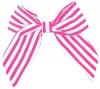 Daisy Daisy Striped Bow Hair Clip in Pink