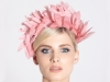 Deb Fanning Millinery Feathered Headpiece in Pink