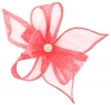 Elegance Collection Diamante Clip Fascinator in Pink