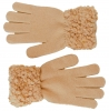 Hawkins Ladies Sequined Popcorn Yarn Gloves in Pink