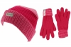 SSP Hats Kids Thinsulate Beanie Hat with Matching Gloves in Pink