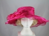 Wide Brimmed Occasion Hat in Cerise