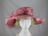 Wide Brimmed Occasion Hat in Pink