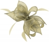 Failsworth Millinery Sinamay Diamante Clip Fascinator in Platinum