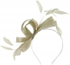 Failsworth Millinery Wide Loops Fascinator in Platinum