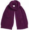 Boardman Darby Ladies Cable Knit Scarf in Plum