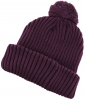 SSP Hats Chunky Knit Beanie Bobble Hat in Plum