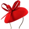 Failsworth Millinery Aliceband Wool Pillbox in Poppy