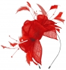 Max and Ellie Diamante Fascinator in Poppy