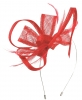 Max and Ellie Flower Fascinator in Poppy