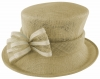 Failsworth Millinery Two Tone Bow Wedding Hat in Praline & Ivory