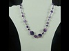 Natural Stone Necklace in Purple