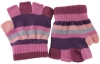 SSP Hats Striped Fingerless Gloves in Purple Multi