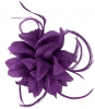 Aurora Collection Flower and Biots Fascinator in Purple