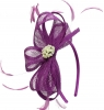 Elegance Collection Sinamay Headpiece Fascinator in Purple
