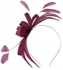 Failsworth Millinery Aliceband Sinamay Fascinator in Purple