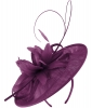 Failsworth Millinery Shaped Sinamay Disc in Purple