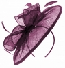 Failsworth Millinery Sinamay Disc Headpiece in Purple