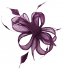 Hawkins Collection Sinamay Fascinator in Purple