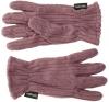 SSP Hats Thermal Patterned Fleece Gloves in Purple