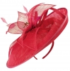 Failsworth Millinery Events Disc Headpiece in Raspberry