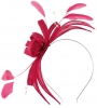 Failsworth Millinery Sinamay Fascinator in Raspberry