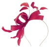 Failsworth Millinery Wide Loops Fascinator in Raspberry