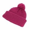 Hawkins Chunky Knit Beanie Hat in Raspberry