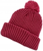 SSP Hats Chunky Knit Beanie Bobble Hat in Raspberry