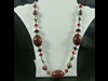 Large Bead Necklace in Red