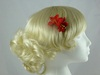 Micro Flower Clip in Red