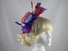 Large Loop Fascinator in Red & Blue