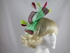 Large Loop Fascinator in Red & Green