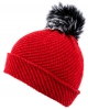Alice Hannah Alina Diagonal Ribbed Beanie in Red