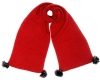 Alice Hannah Alina Diagonal Ribbed Scarf in Red