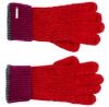 Alice Hannah Wool Knitted Gloves in Red