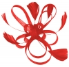 Aurora Collection Fascinator with Loops and Feathers in Red