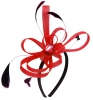 Aurora Collection Fascinator with Loops and Gem in Red
