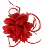 Aurora Collection Flower and Biots Fascinator in Red