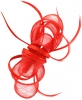 Aurora Collection Satin Loops Comb Fascinator in Red