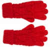 Boardman Darby Ladies Cable Knit Gloves in Red
