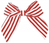 Daisy Daisy Striped Bow Hair Clip in Red