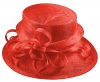 Elegance Collection Sinamay Loops Wedding Hat in Red
