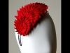 Esther Louise Millinery Graduating Ribbon Headband in Red