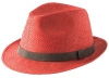 Failsworth Millinery Straw Trilby in Red
