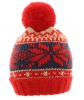 Hawkins Beanie Bobble Hat in Red