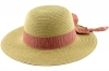Hawkins Collection Straw Hat with Pinstripe Band in Red