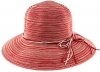 Hawkins Collection Wide Brimmed Straw Hat with String Band in Red